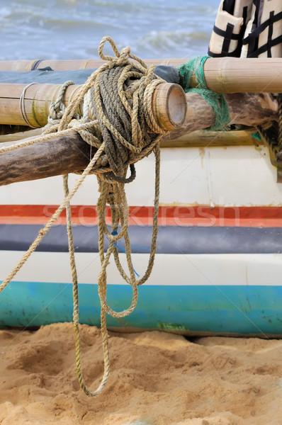 Rope on fishing ship Stock photo © byrdyak