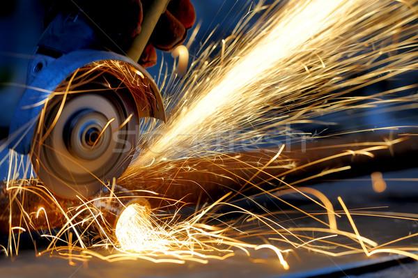Trabajador metal mano Foto stock © byrdyak
