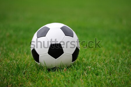 Close-up soccer ball Stock photo © byrdyak