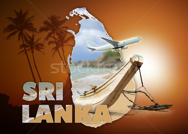 Sri Lanka reizen bruin hemel natuur landschap Stockfoto © byrdyak