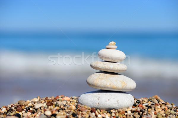 камней пляж воды аннотация Сток-фото © byrdyak