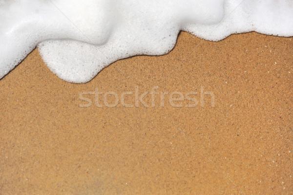 Onda oceano onda Ocean sabbia spiaggia texture Foto d'archivio © byrdyak