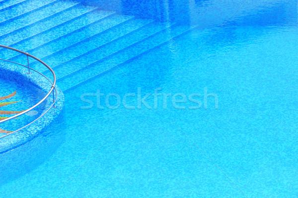 Yüzme havuzu basamak otel sağlık spor Stok fotoğraf © byrdyak