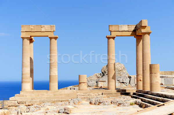Ruins of ancient temple Stock photo © byrdyak