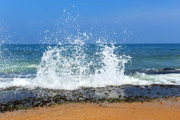 波 海の波 海 砂 ビーチ テクスチャ ストックフォト © byrdyak