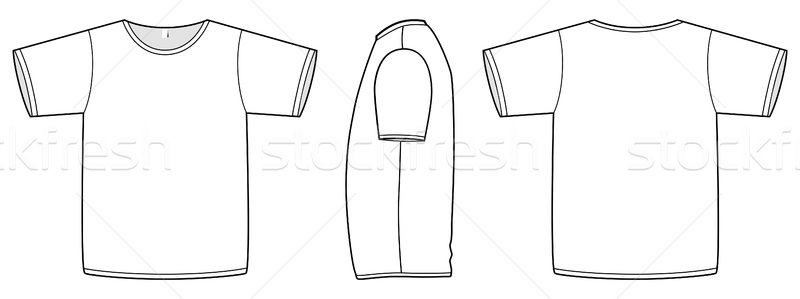 Basic unisex T-shirt template vector illustration. Stock photo © Bytedust
