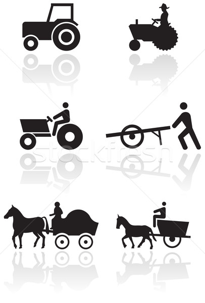 Farmer symbol vector set. Stock photo © Bytedust