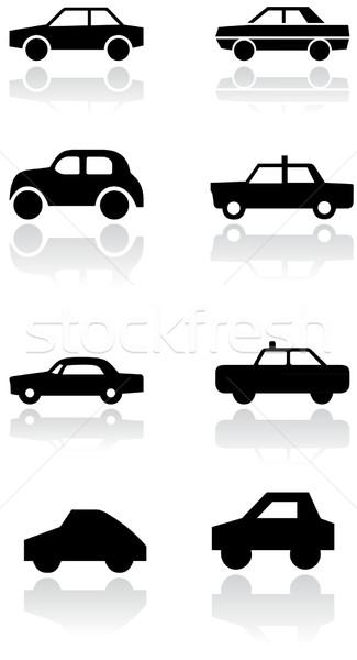 Stockfoto: Auto · symbool · vector · ingesteld · verschillend · symbolen