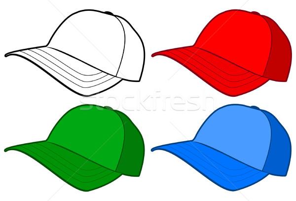 Beysbol şapka kapak vektör şablon tüm Stok fotoğraf © Bytedust