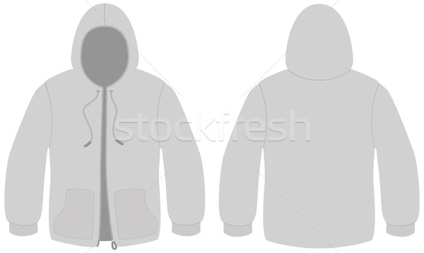 Hooded sweater with zipper template vector illustration. Stock photo © Bytedust