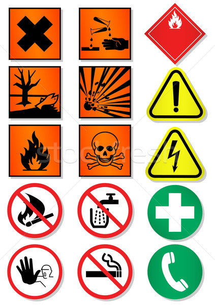Vector set of different international signs, laboratory associated. Stock photo © Bytedust