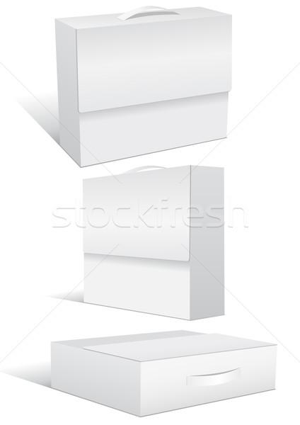 Szett tok doboz bőrönd különböző 3D Stock fotó © Bytedust