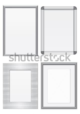 Szett fém keret fém textúra összes vektor Stock fotó © Bytedust
