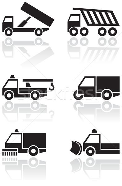 Vrachtwagen van symbool vector ingesteld verschillend Stockfoto © Bytedust
