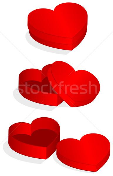 Kalp valentine kutu farklı tüm Stok fotoğraf © Bytedust