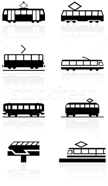 Train symbol vector illustration set. Stock photo © Bytedust