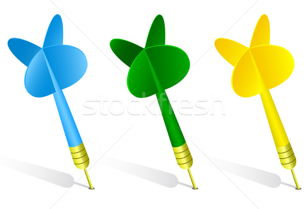 Darts vector illustration. Stock photo © Bytedust