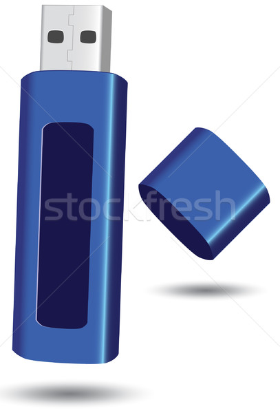 Usb flash drive vector illustratie geheugen drive Stockfoto © Bytedust