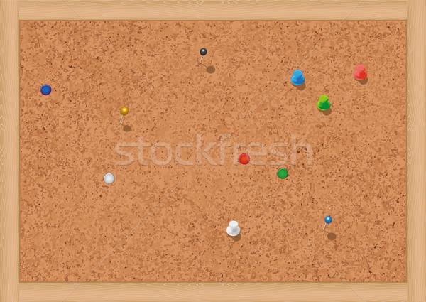 Dugó hirdetőtábla összes tárgyak izolált színek Stock fotó © Bytedust