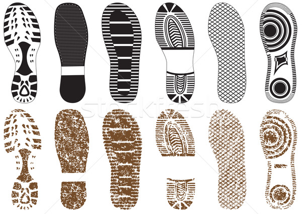Vector illustration set of footprints. Stock photo © Bytedust