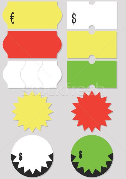 Fiyat etiket ayarlamak farklı etiketler Stok fotoğraf © Bytedust
