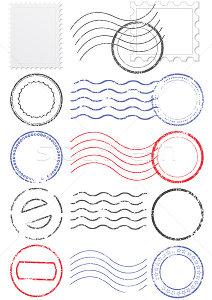 Vector set of different postmarks and stamps. Stock photo © Bytedust