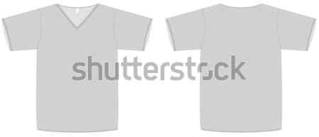 Unisex V-neck T-shirt template vector illustration. Stock photo © Bytedust