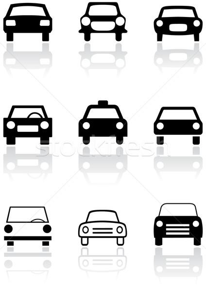 Araba simge vektör ayarlamak farklı semboller Stok fotoğraf © Bytedust