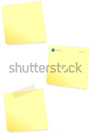 Adhesive note vector illustration. Stock photo © Bytedust