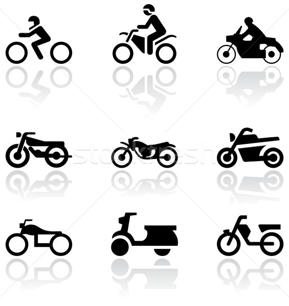 Stock photo: Motorbike symbol vector set.