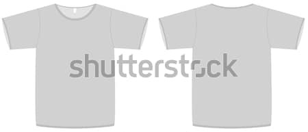 Temel tshirt şablon tüm nesneler ayrıntılar Stok fotoğraf © Bytedust