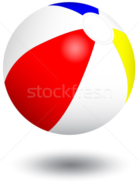 Gonflable ballon de plage vecteur illustration objets isolé Photo stock © Bytedust