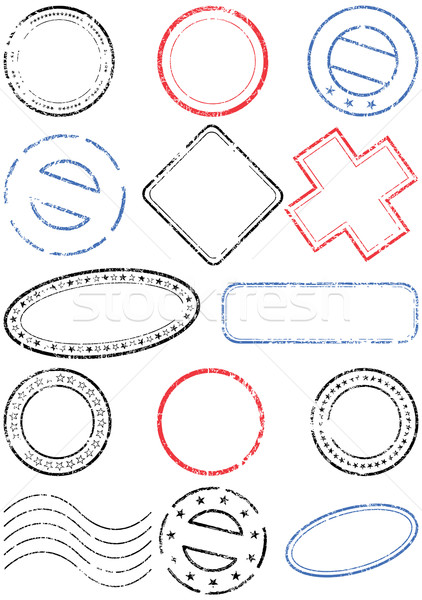 Postmark vector illustration set. Stock photo © Bytedust