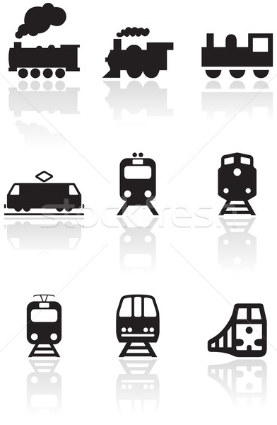 Train symbole vecteur différent illustrations Photo stock © Bytedust