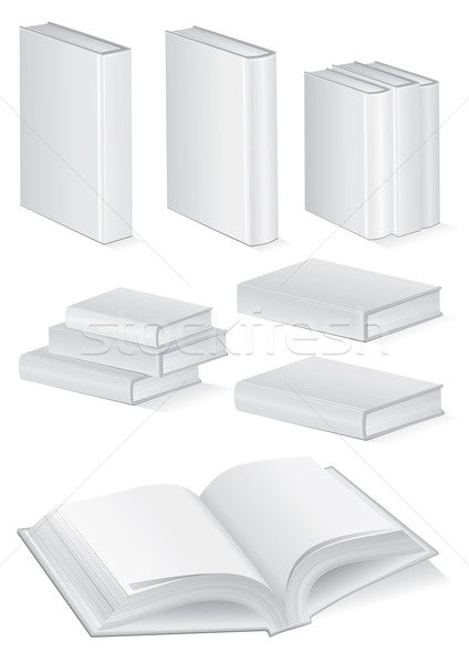 Illustration set of books with hardcover. Stock photo © Bytedust