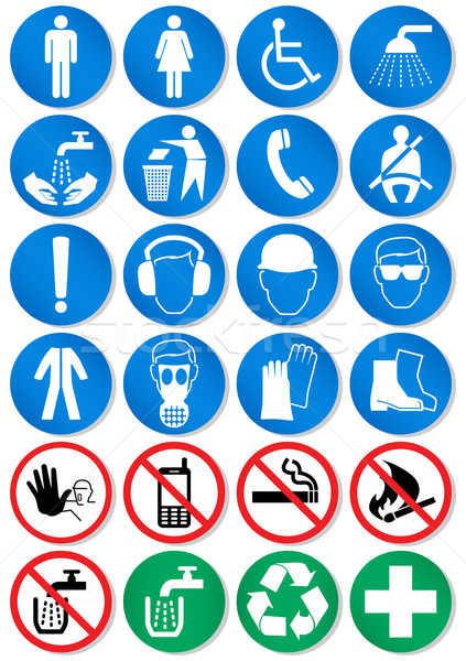 Vector set of different international communication signs. Stock photo © Bytedust