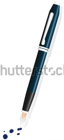 Fountain pen vector illustration. Stock photo © Bytedust