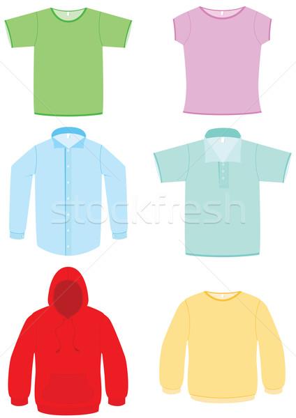 Ruházat szett hat különböző ruházat összes Stock fotó © Bytedust