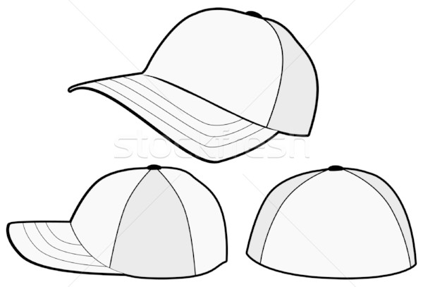 baseball cap or hat vector template design vector illustration bytedust 291384 stockfresh. Black Bedroom Furniture Sets. Home Design Ideas