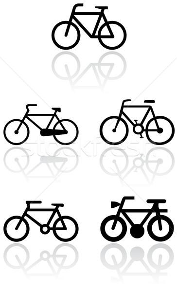 Bicikli szimbólum vektor szett különböző szimbólumok Stock fotó © Bytedust