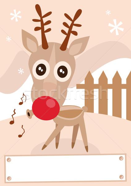 северный олень праздник зимний сезон смешные Сток-фото © Bytedust
