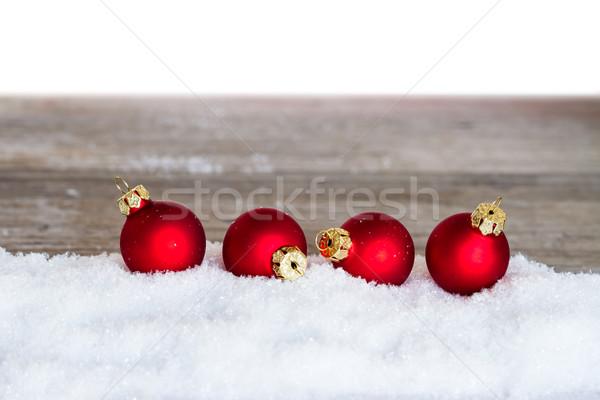 Vermelho natal quatro neve Foto stock © c12