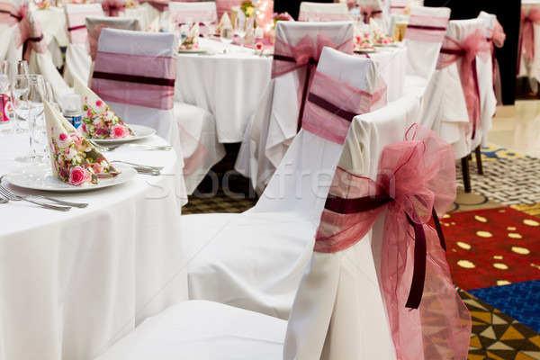 wedding chairs with ribbon Stock photo © c12