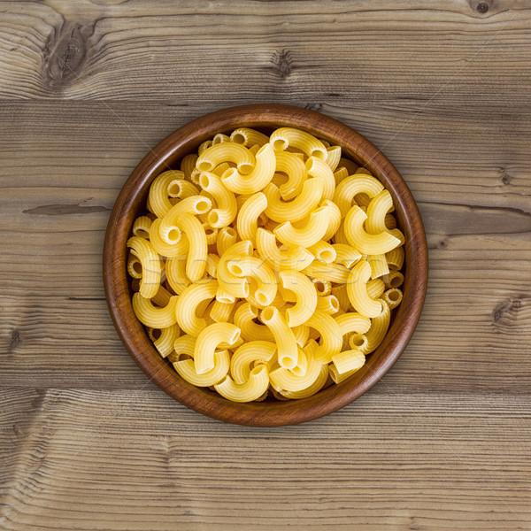 Amarelo macarrão prato comida madeira Foto stock © c12