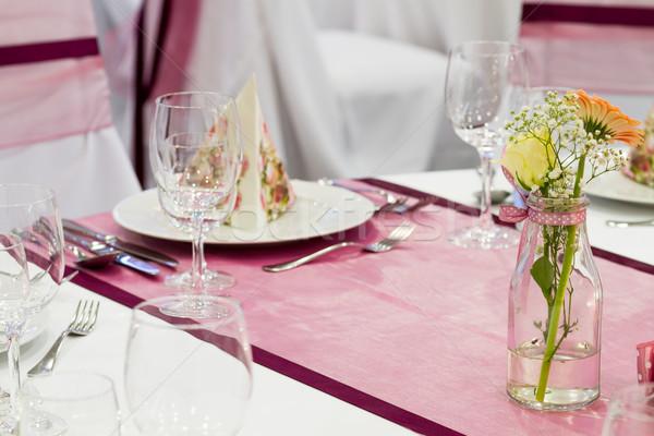 Flor tabela casamento evento projeto restaurante Foto stock © c12