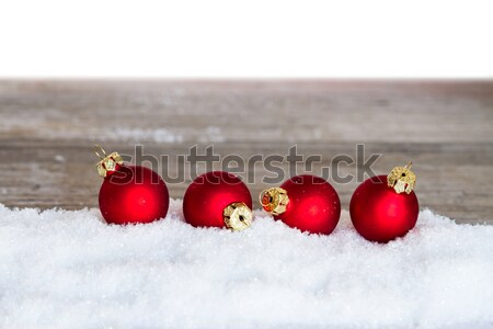 Vermelho natal três neve Foto stock © c12