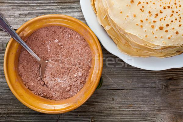 Сток-фото: блин · традиционный · Top · мнение · древесины · обеда