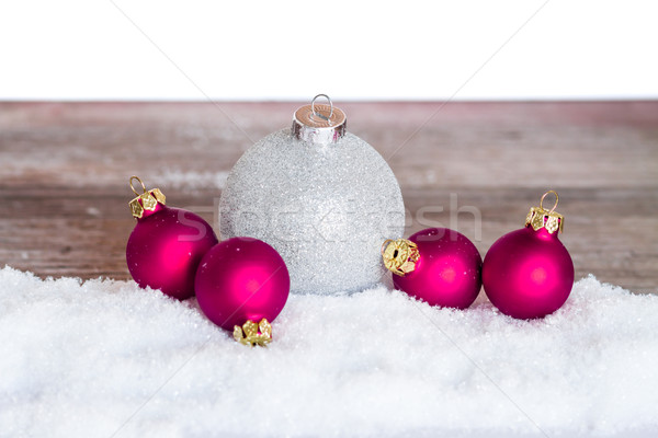 Natal neve madeira fundo Foto stock © c12