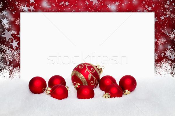 red christmas balls Stock photo © c12