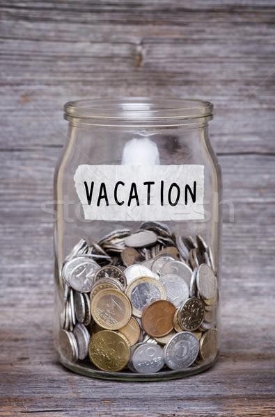 ストックフォト: 休暇 · お金 · jarファイル · コイン · ビジネス